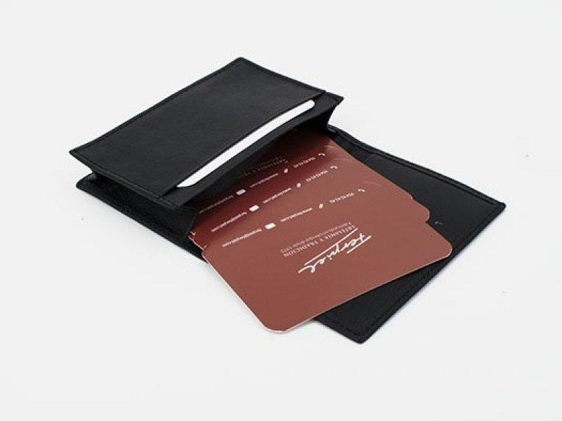 Funda para tarjetas en piel